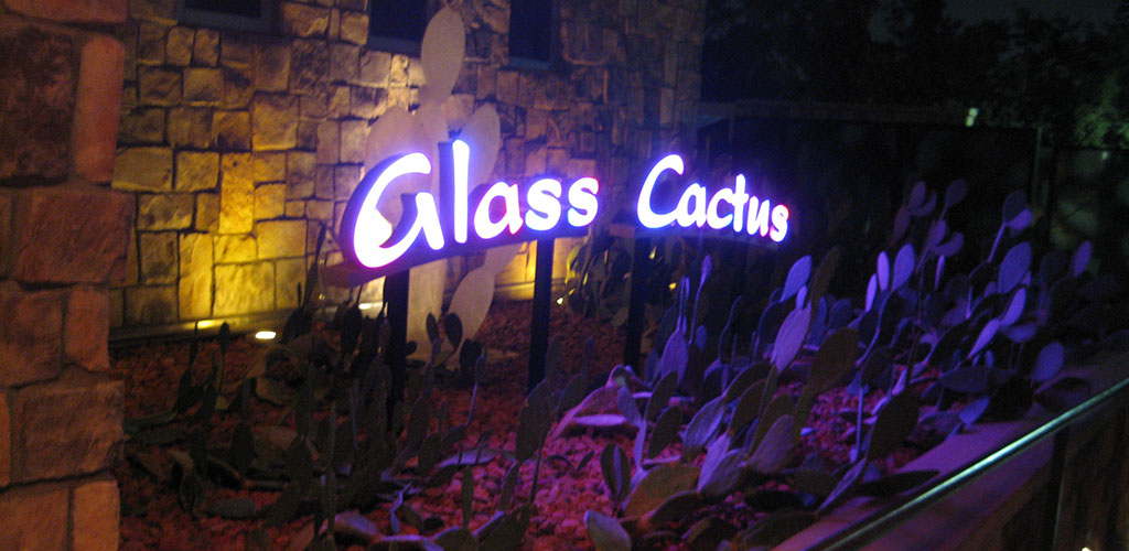 The sign at Glass Cactus Nightclub