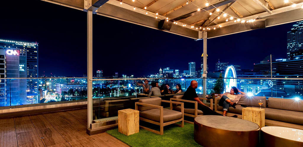 Glenn Sky Lounge at night with a breathtaking view