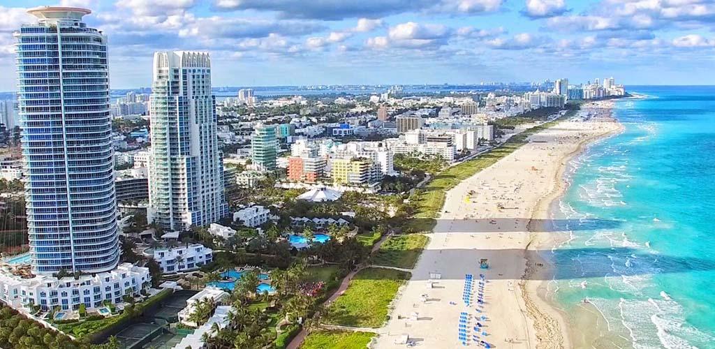 Miami Beach in the summer