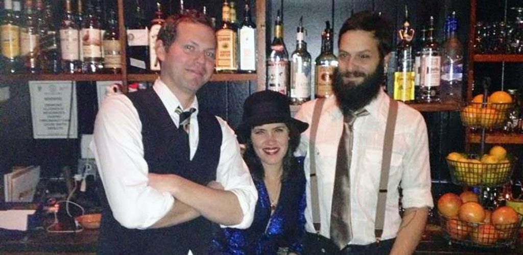 The dressed up staff at Normal Bar