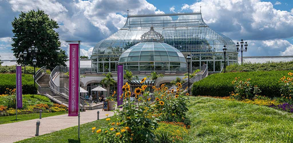 The picturesque Phipps Conservatory and Botanical Garden