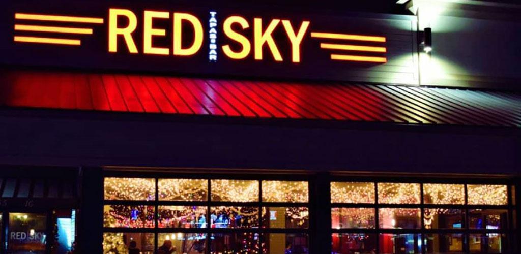 Red Sky Tapas & Bar at night