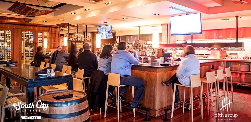 The beautiful bar at South City Kitchen