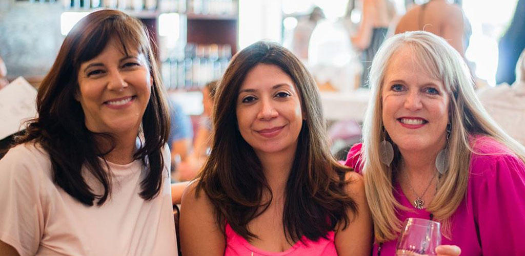 Beautiful older women in Sonoma in the Heights Wine Bar and Restaurant
