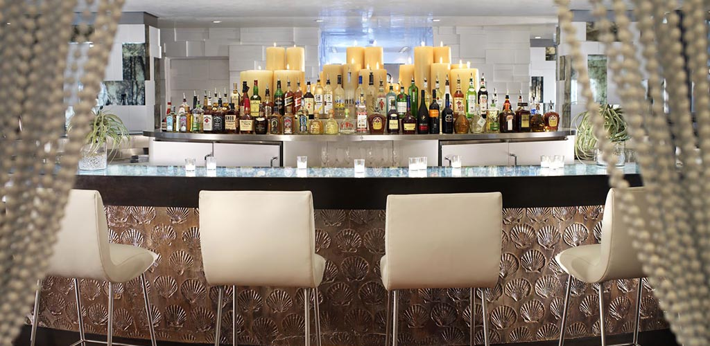 Bar area of The Penthouse at The Huntley Hotel