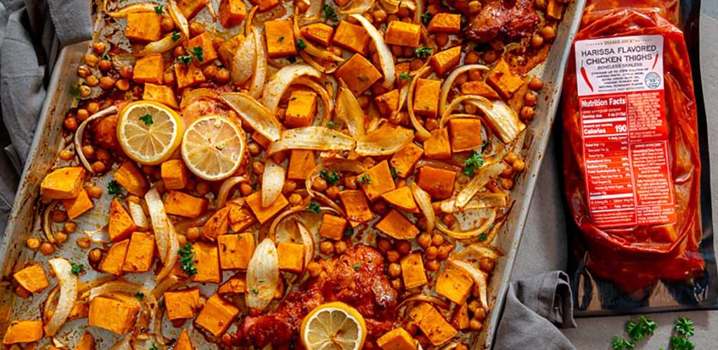 A dish made with harissa seasoning from Trader Joe's