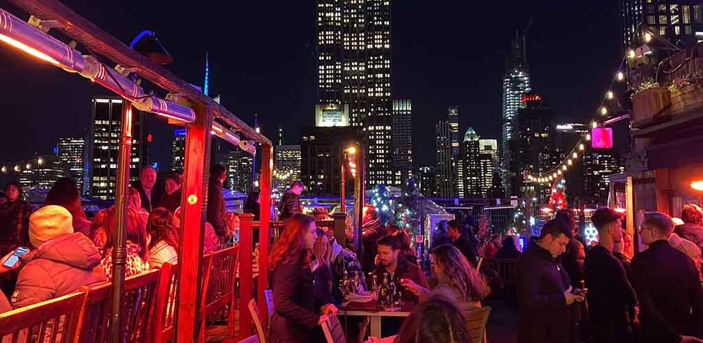 The beautiful view at 230 Fifth Rooftop Bar