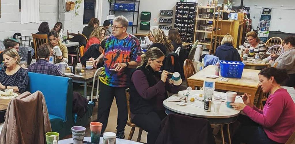 Women in a crafts class at Decoy Art Center