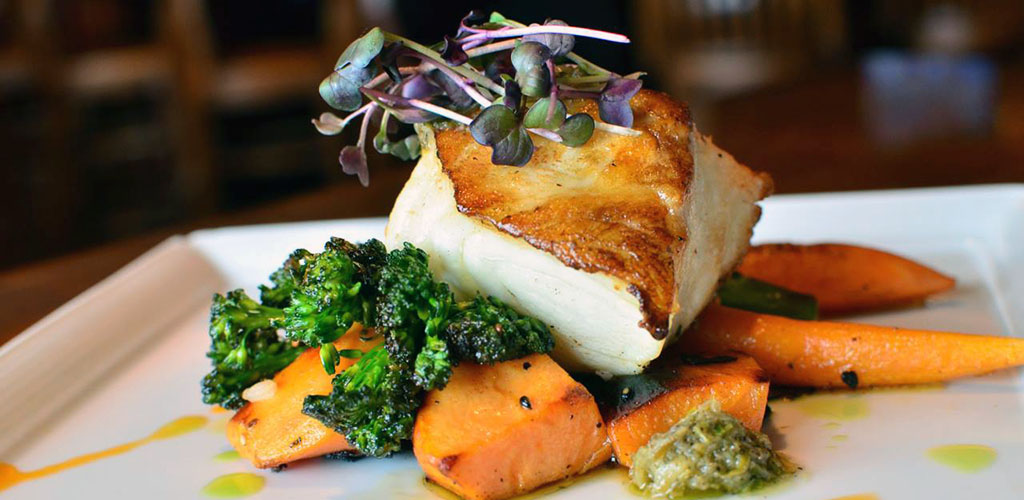 A delicious fish and vegetables dish at Embers
