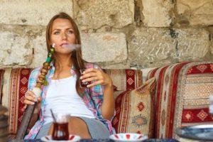 Hookah lounge with a Turkish MILF
