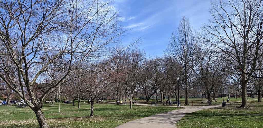 Schiller Park in the daytime