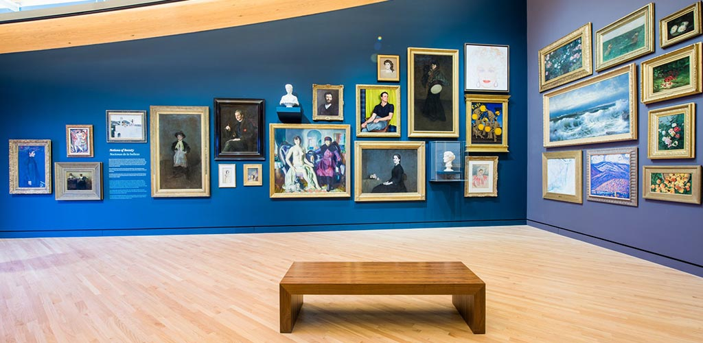 Artworks on display at the Crystal Bridges Museum of Art