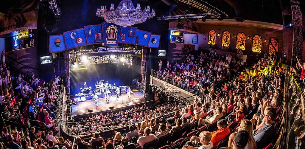 A huge crowd during a live performance at the House of Blues