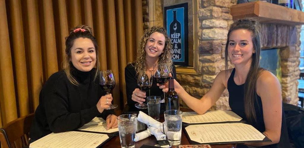 Women having some wine before dinner at Napa Sonoma