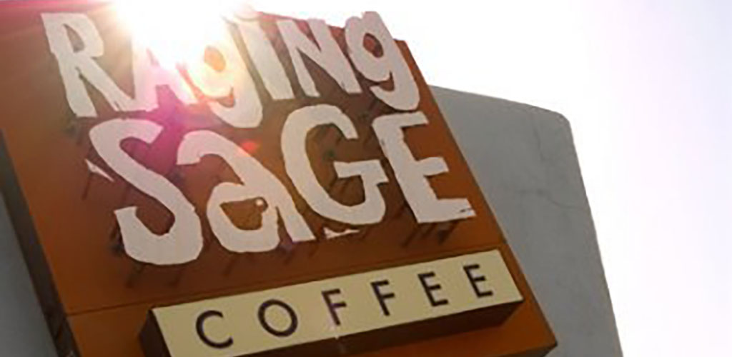 The Raging Sage sign