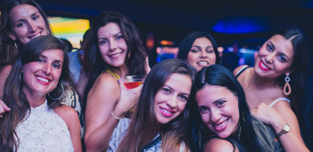 Beautiful women on a night out at Blue Martini