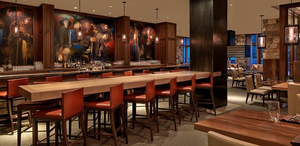 The rustic bar at St. Regis Bar