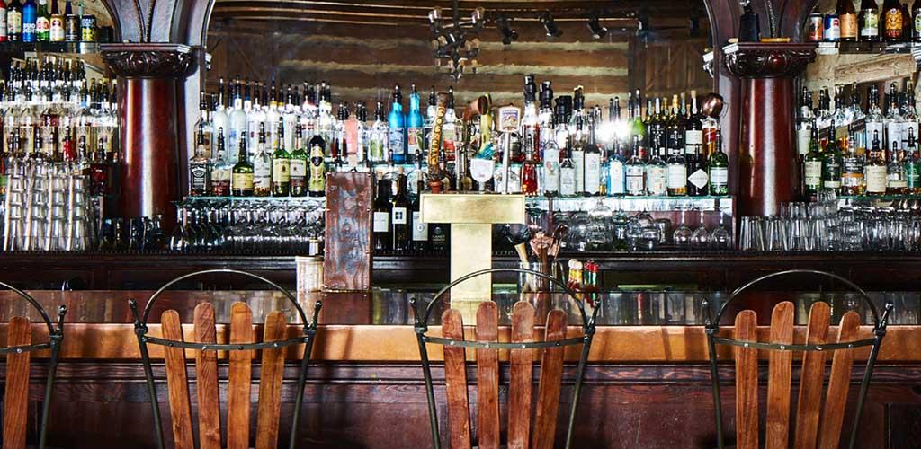 The bar at The Owl Bar in The Sundance Resort