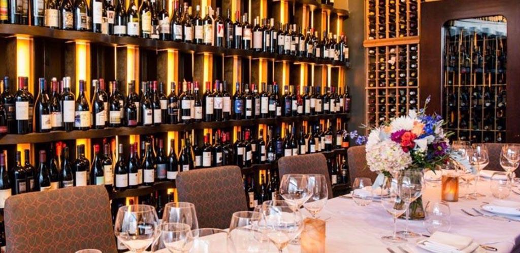 The elegant dining area of 360 Bistro