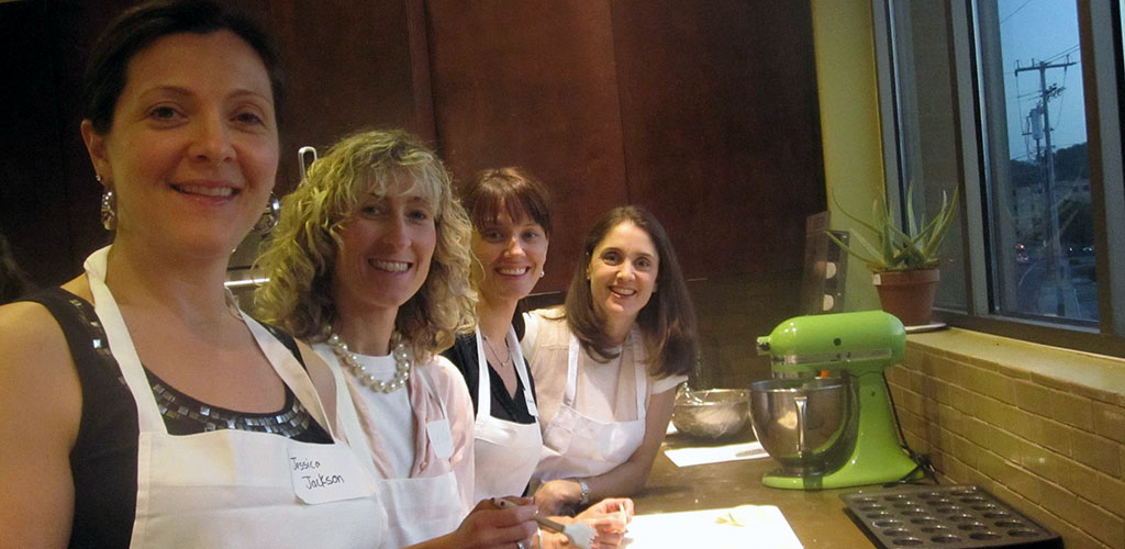 Tennessee MILFs at a class in Salud! Cooking School