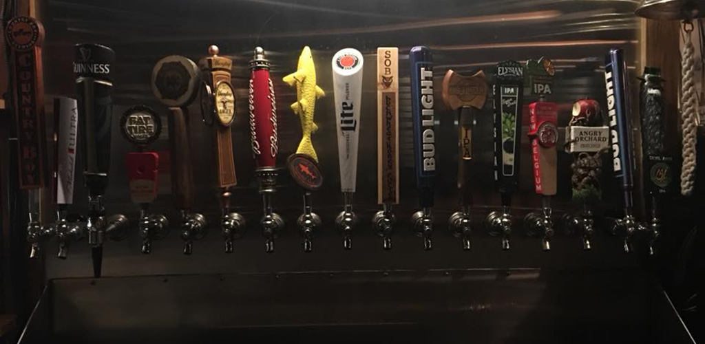 Beer taps from The Back Door