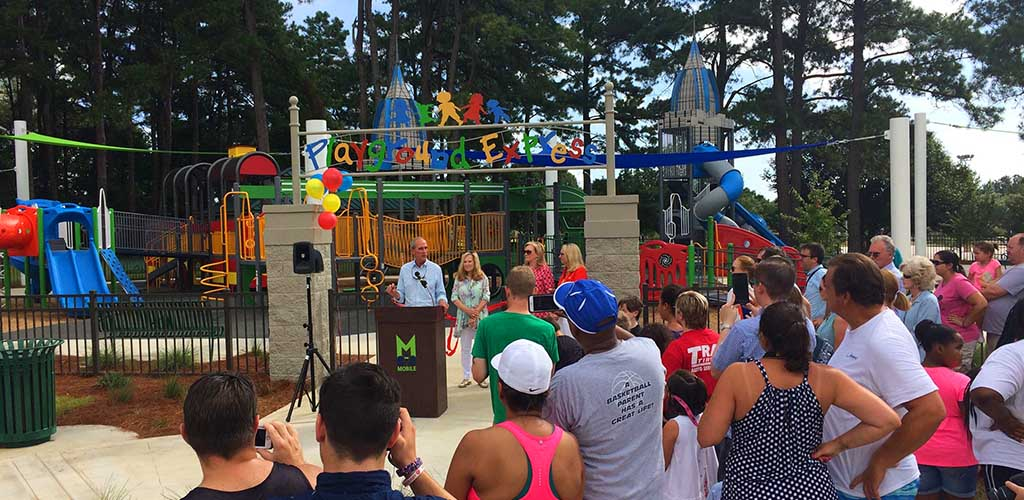 Opening ceremony of the Cottage Hill Park Playground at the Medal of Honor Park