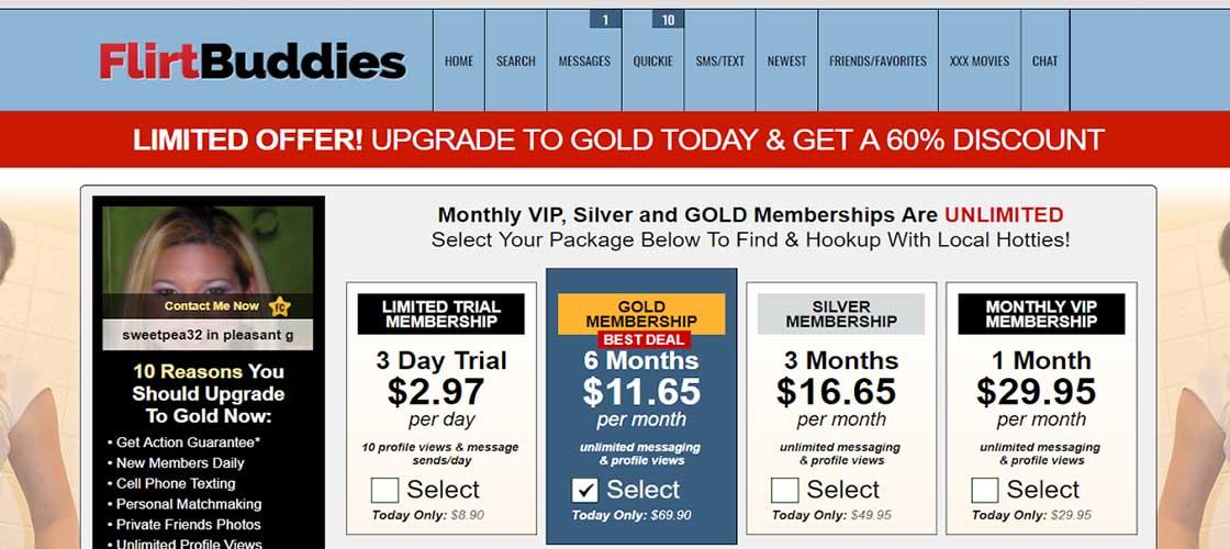 Flirtbuddies.com membership details