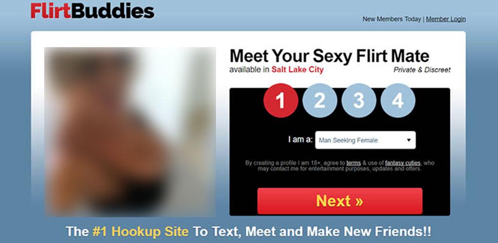 The first page on flirtbuddiess.com