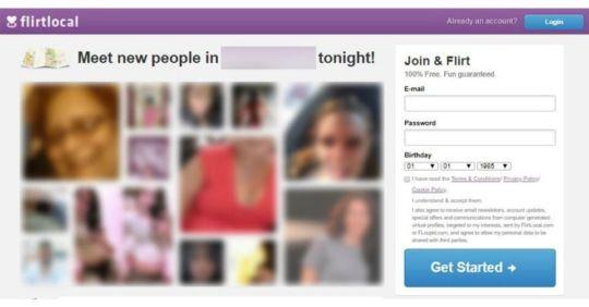 Flirtlocal.com review homepage