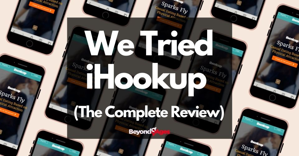 Ihookup homepage during our review