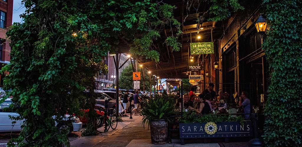 A bar at Omaha Old Market