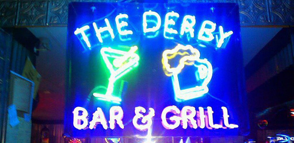 The Derby Bar and Grill neon sign
