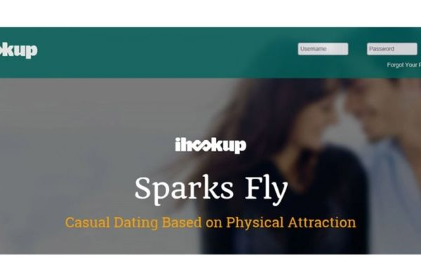 Homepage for our ihookup review