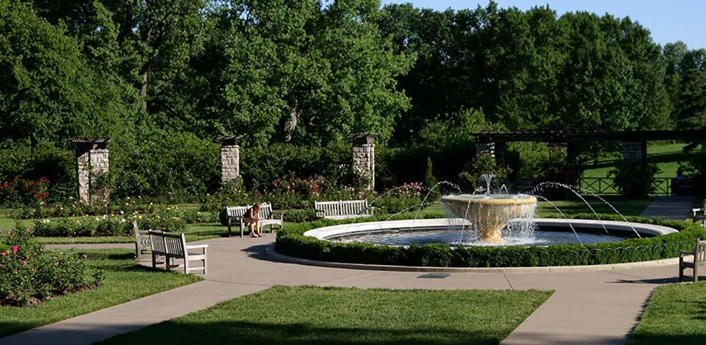 The fountain at Jacob Loose Memorial Park