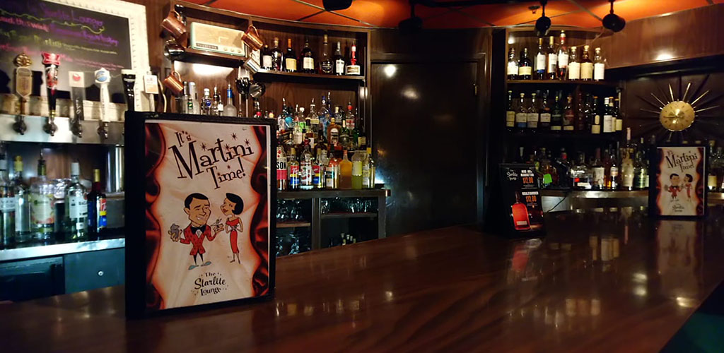 The bar at Starlite Lounge