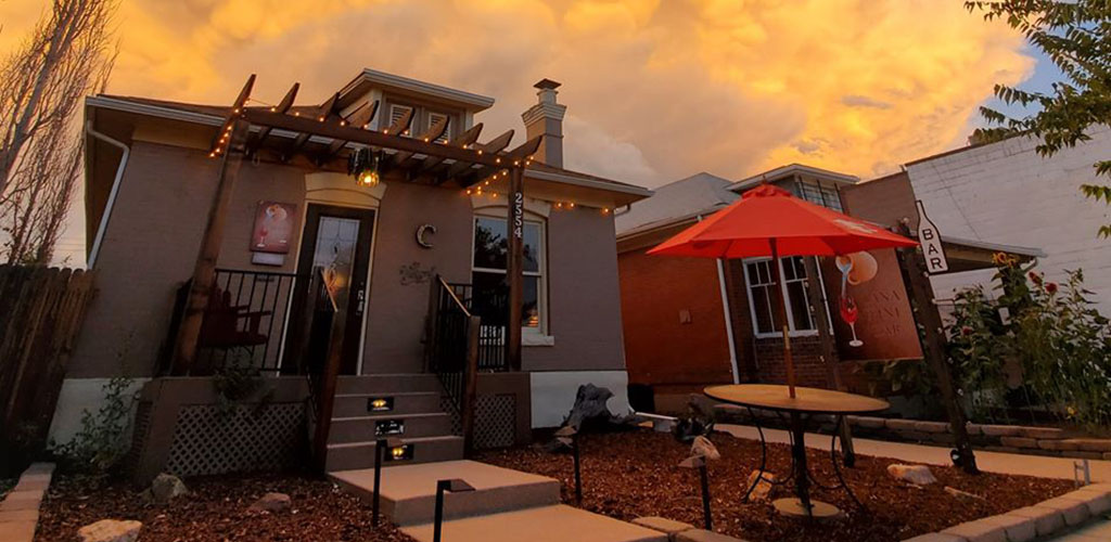 The quaint exterior of Cana Wine Bar