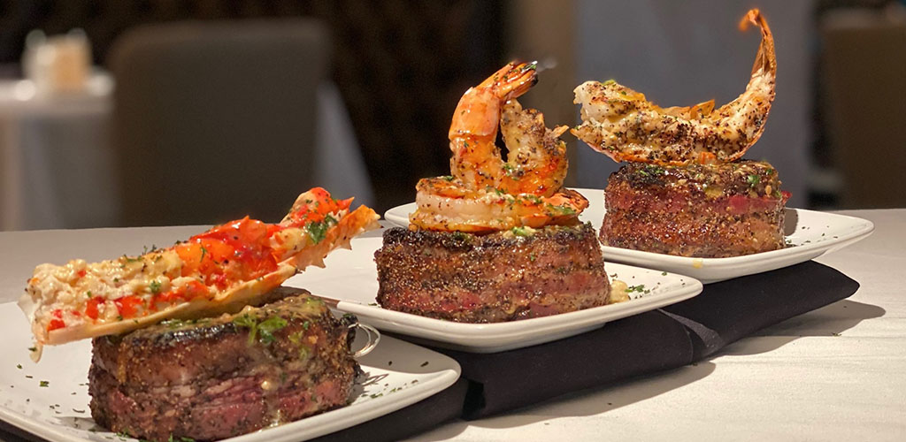 Steak and seafood dish from Park Meadows