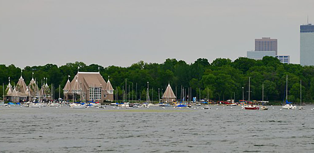 The view of Lake Harriet