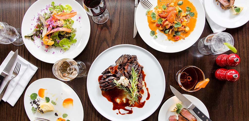 A beautiful flat lay of various dishes from Panzano