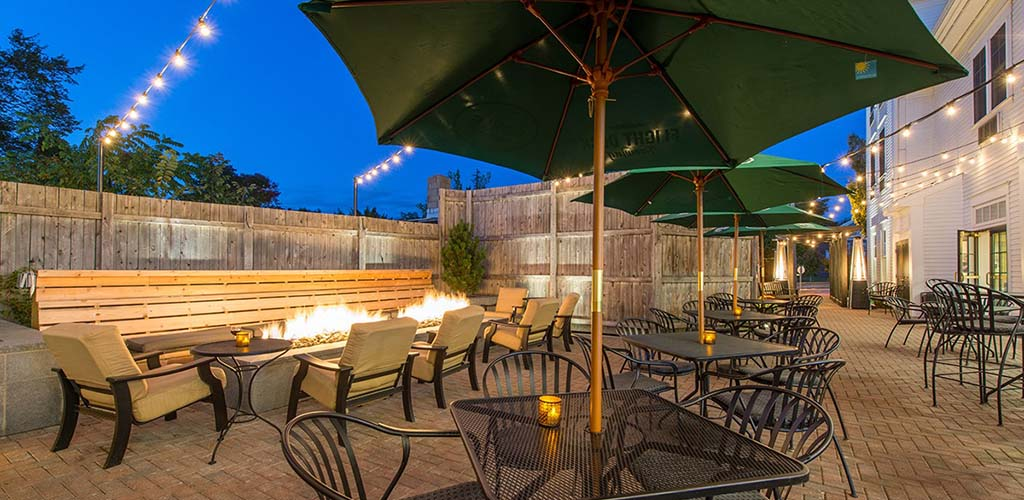 The fire pit at Brunswick Hotel
