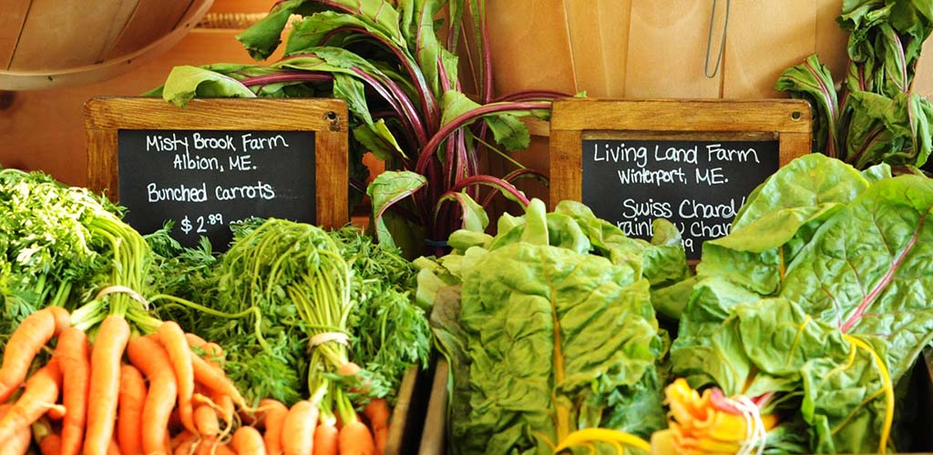 Fresh produce that you can get from Tiller and Rye