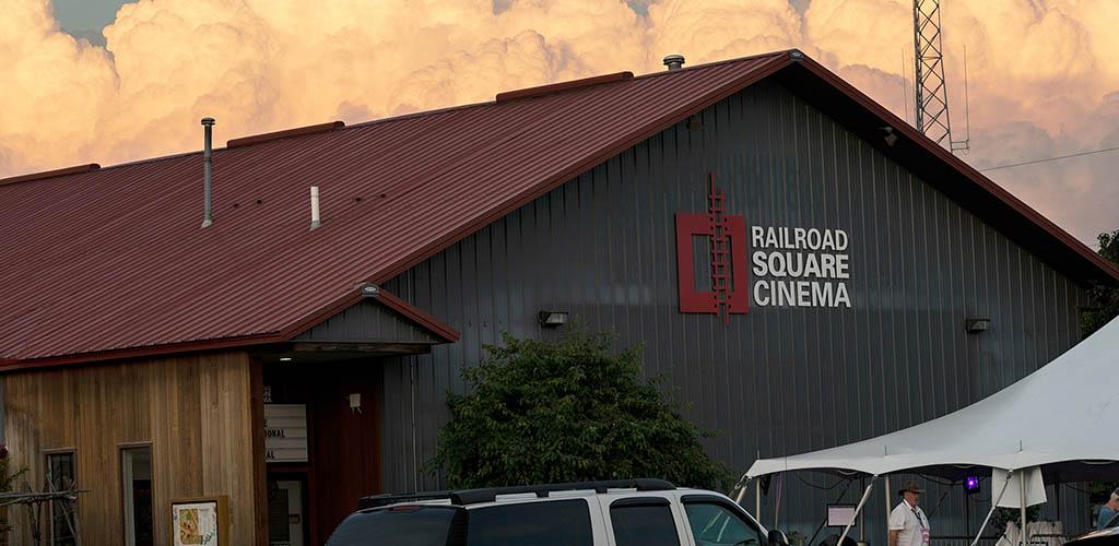 Outside Railroad Square Cinema