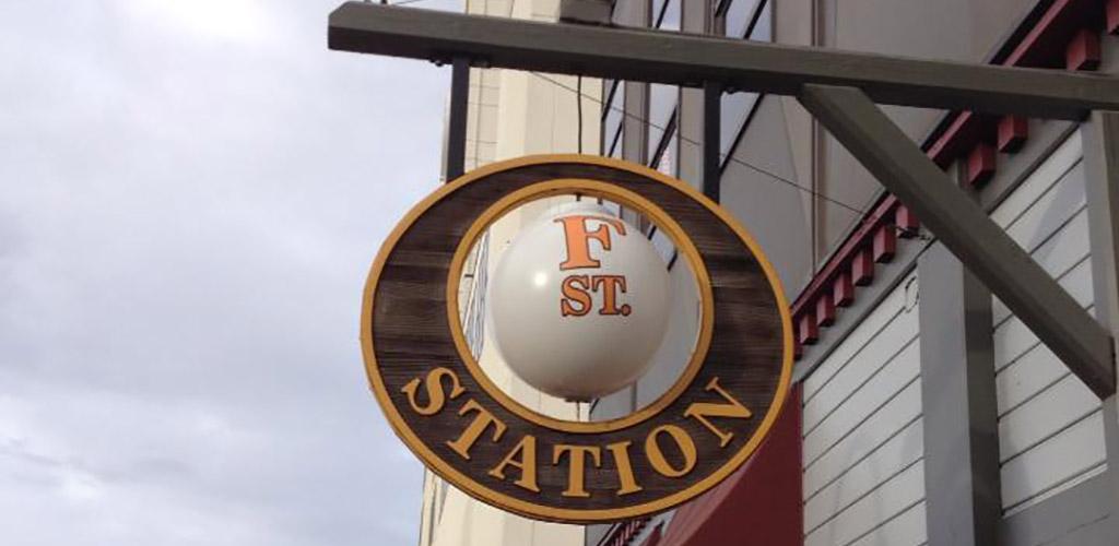 F Street Station signage