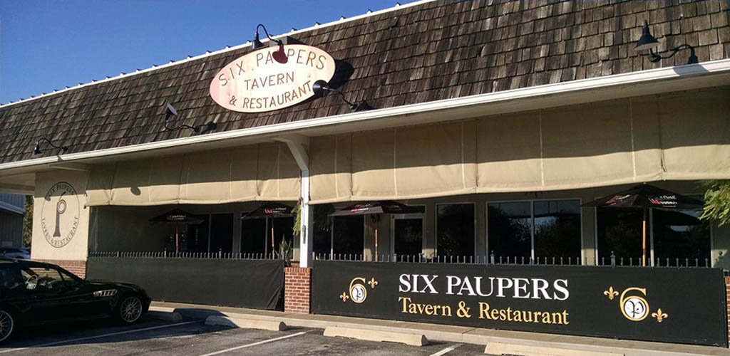 Exterior of Six Paupers Tavern