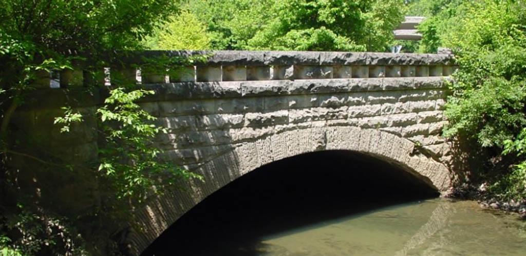 The bridge at Cherokee Park