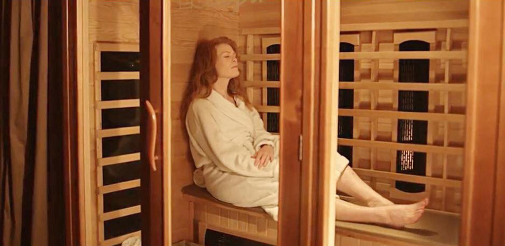 A lovely woman in the sauna at The Body Spa