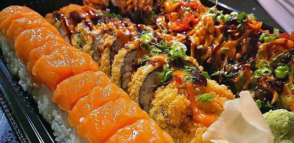 Delicious, fresh sushi rolls from Sushi Cafe