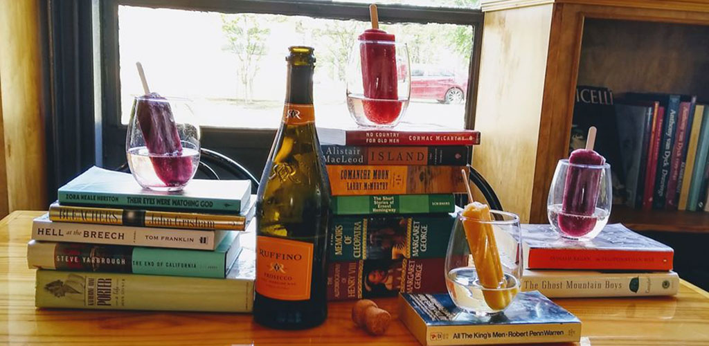 Popsicles, books and wine from Coffee Prose