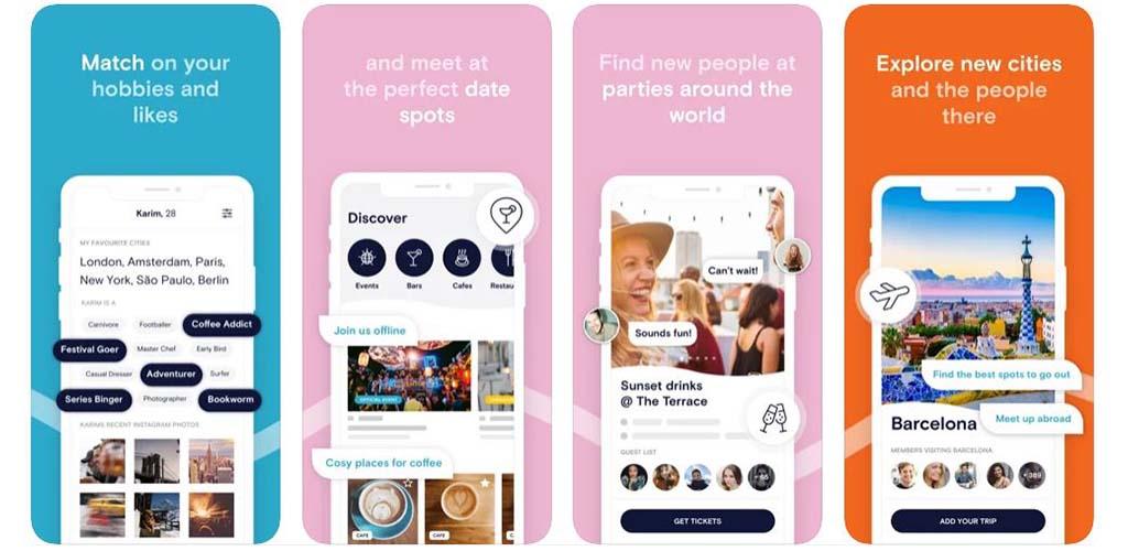 Inner Circle's app screens
