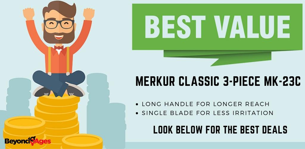 The Merkur MC-23 is the best value razor for shaving your head